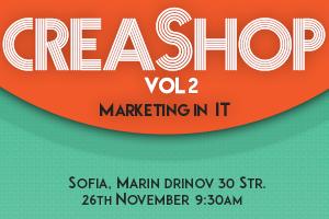 Банер за събитието CreaShop vol. 2